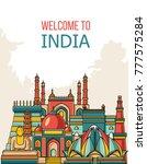 india detailed skyline. travel...   Shutterstock .eps vector #777575284