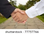 business hand shacking concept... | Shutterstock . vector #77757766
