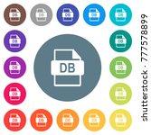 db file format flat white icons ...