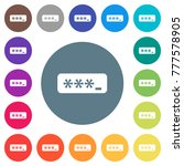 pin code flat white icons on... | Shutterstock .eps vector #777578905