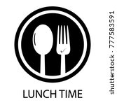 fork and spoon lunch time  ... | Shutterstock .eps vector #777583591