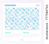 physiotherapy concept with thin ...   Shutterstock .eps vector #777584761