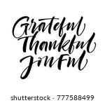grateful  thankful  joyful... | Shutterstock .eps vector #777588499
