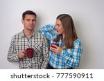 loving man and woman in casual... | Shutterstock . vector #777590911