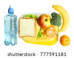 a useful lunch in a container... | Shutterstock . vector #777591181