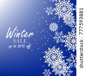 blue winter background with... | Shutterstock .eps vector #777593881
