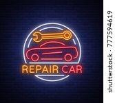 car service repair logo vector  ... | Shutterstock .eps vector #777594619