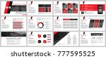 business presentation slides... | Shutterstock .eps vector #777595525