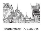wat phra kaew  holy place and...   Shutterstock .eps vector #777602245