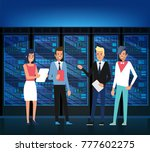 data center. techniques  it... | Shutterstock .eps vector #777602275