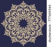 oriental vector round golden...   Shutterstock .eps vector #777604564