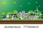 green eco city and renewable... | Shutterstock .eps vector #777604615