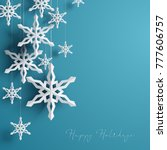 winter background with... | Shutterstock .eps vector #777606757