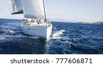 luxury yachts at sailing... | Shutterstock . vector #777606871