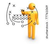 stick figure coach american... | Shutterstock . vector #77761069