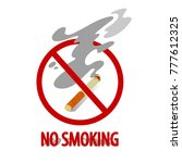 vector sign no smoking. flat... | Shutterstock .eps vector #777612325