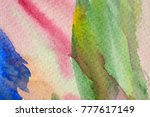 abstract watercolor painted... | Shutterstock . vector #777617149