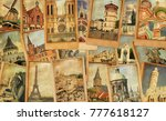 Vintage Photo Cards Collage....