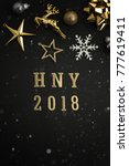 happy new year 2018 holiday... | Shutterstock . vector #777619411