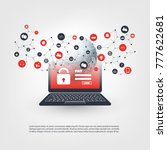 global network vulnerability ... | Shutterstock .eps vector #777622681