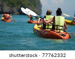 Traveler Kayaking In The Thai...