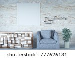 3d rendering of mock up picture ... | Shutterstock . vector #777626131