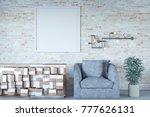 3d rendering of mock up picture ... | Shutterstock . vector #777626131