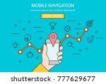 mobile navigation. vector... | Shutterstock .eps vector #777629677