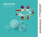 idea concept for business... | Shutterstock .eps vector #777630187