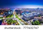 bucharest between day and night   Shutterstock . vector #777632767