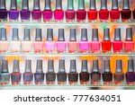 beautiful display colorful nail ...   Shutterstock . vector #777634051
