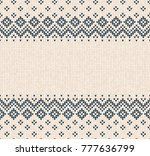 winter christmas x mas knitted... | Shutterstock . vector #777636799