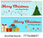 christmas tree with fir gifts... | Shutterstock .eps vector #777638857