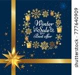 winter sale best offer poster... | Shutterstock .eps vector #777640909