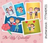 be my valentine festive banner... | Shutterstock .eps vector #777640921