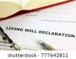 Small photo of An concept Image of a living will declaration
