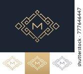 monogram logo template | Shutterstock .eps vector #777646447