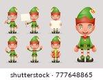 boy cute elf christmas santa...   Shutterstock .eps vector #777648865