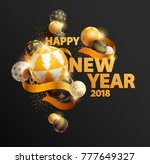 new year background with text.... | Shutterstock .eps vector #777649327