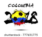 abstract number 2018 and soccer ...   Shutterstock .eps vector #777651775