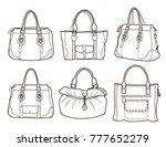 collection of women's handbags... | Shutterstock .eps vector #777652279