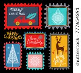 christmas holiday marks. icons  ... | Shutterstock . vector #777654391