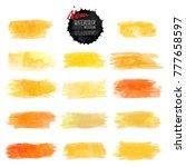 set of watercolor stain. vector ...   Shutterstock .eps vector #777658597