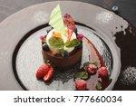 exquisite restaurant mousse... | Shutterstock . vector #777660034
