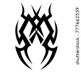 tattoo tribal vector design.... | Shutterstock .eps vector #777662539