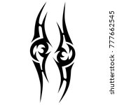 tattoo tribal vector design.... | Shutterstock .eps vector #777662545