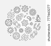 bacterias round concept symbol... | Shutterstock .eps vector #777663277