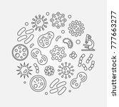 bacterias round concept symbol... | Shutterstock .eps vector #777663277