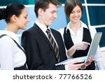 young business people working... | Shutterstock . vector #77766526