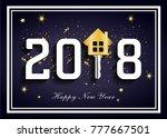 dark blue 2018 for real estate  ... | Shutterstock .eps vector #777667501